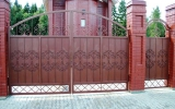 Кованые ворота металлические