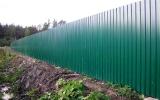 фото: забор из металлопрофиля 7