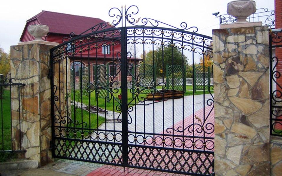 Ворота для частного дома металлические фото ворота въездные производство