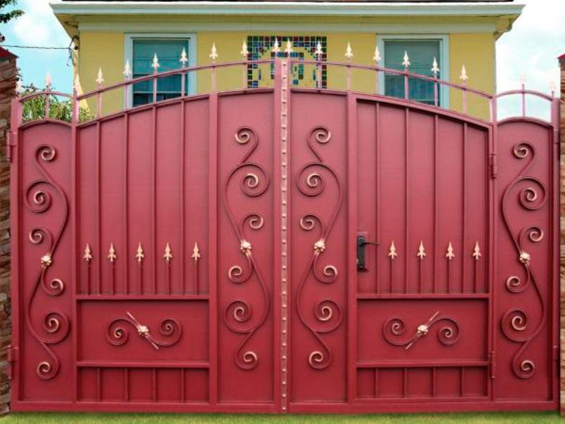 Калитка в воротах своими руками фото