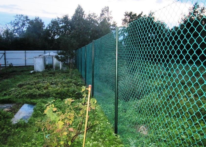 Забор своими руками из сетка рабица фото забора 315